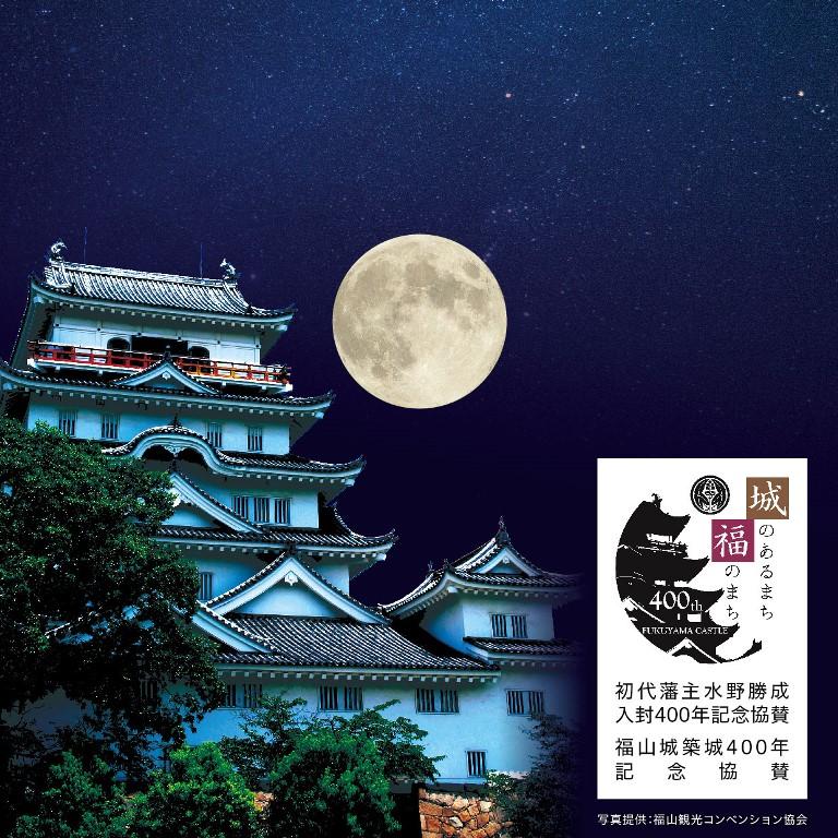 築城400年プラン 夜の福山城